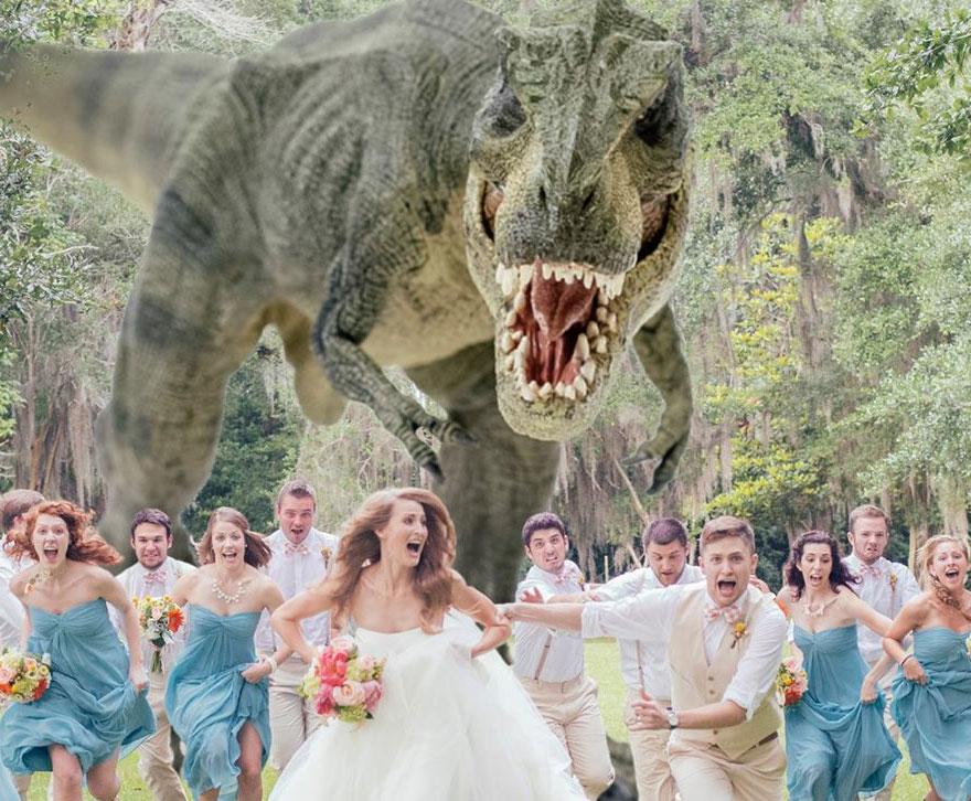 tyrannosaurus-rex-wedding-photo
